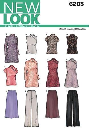 Tunique Haut Soirée Jupe Look New Couture De Nl6203 Patron 6TXn0w