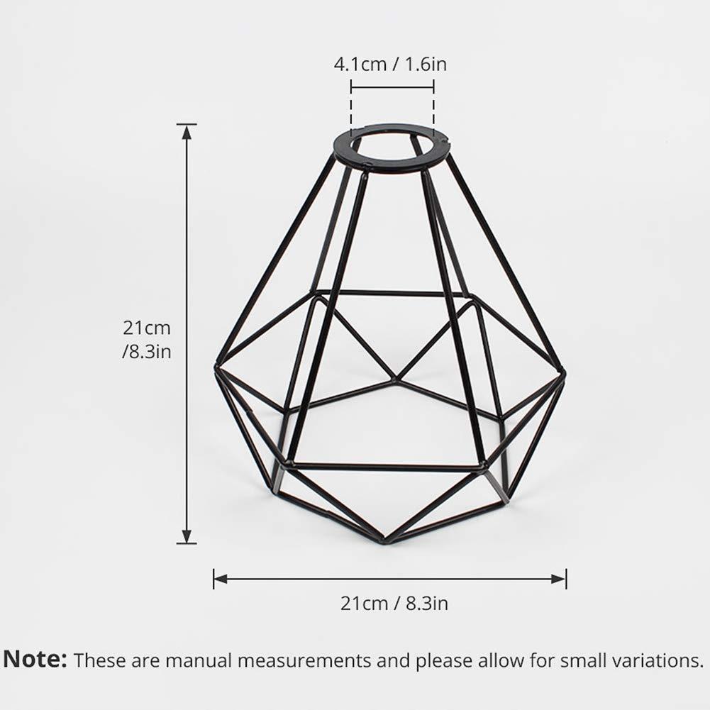 24CM Cratone 4Pcs Lampes Abats-jour cage de fil Abat-jour style r/étro vintage Panier G/éom/étrique Fini en Effet Cuivre 20