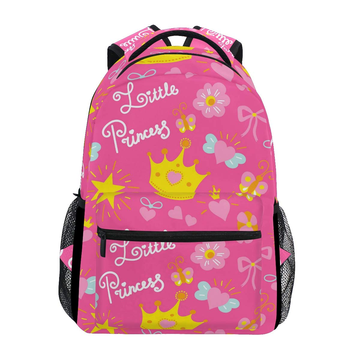 814b359d89a1 Backpack pink yellow crown flowers little princess canvas school bags kids  backpacks jpg 1200x1200 Princess peach