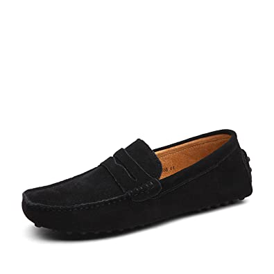 be25aefdd7b80 RunWalker Men Loafers Cow Suede Leather Slip-on,Causal Driving Shoes Flat  Shoes Soft