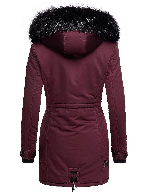 XS XXL 5 Colori Luluna Prc Navahoo Cappotto Invernale da Donna con Pelliccia Sintetica Rimovibile