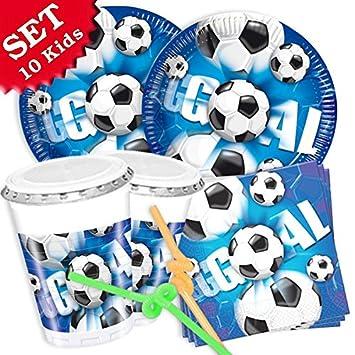 Fútbol de Juego, 40 piezas decoración de cumpleaños para ...