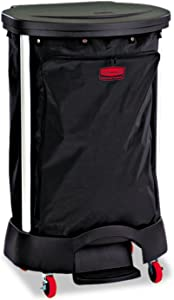 Rubbermaid 6350BLA Premium Step-On Linen Hamper Bag, 13 3/8w x 19 7/8d x 29 1/4h, Nylon, Black