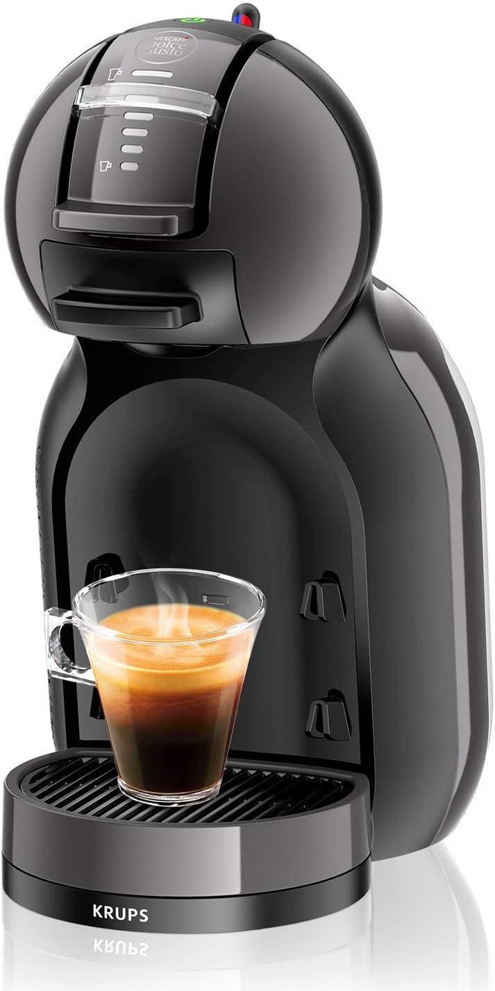 Dolce Gusto Krups KP1208 - Cafetera de cápsulas Mini Me, 15 bares de presión, color negro y gris: Amazon.es: Hogar