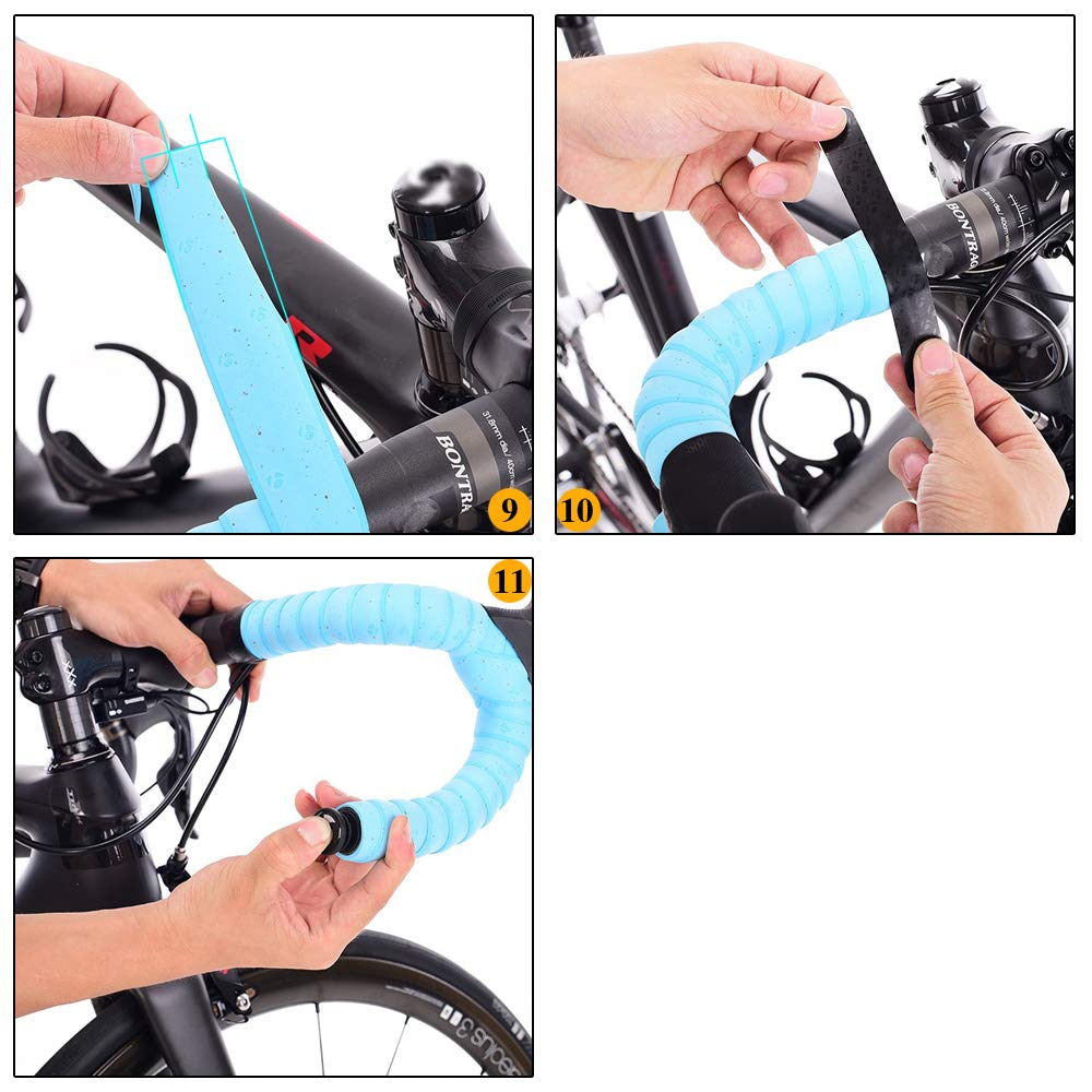 Amp stw Extra Long Performance Bike Gradient Color Bar Tape,Bicycle Handlebar Tape Wrap for Road Cycle,1.18 Inch Width,2PCS per Set