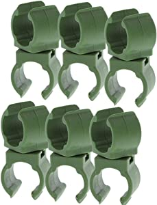 N/C Plant Stake Connectors,6Pcs Garden Trellis Plant Connector Cross Clip, Adjustable Climbing Rattan Stent Clip Universal Plant Connector Stake Clip for Garden Tomato Cage 11mm (0.43in)