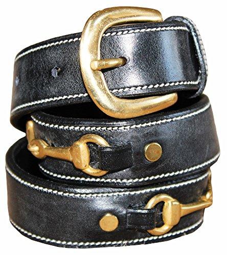 Ladies Double Snaffle Bit Belt (S, Black)