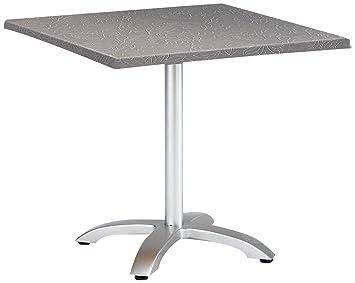 Best Maestro Table de Jardin carrée et Pliante 80 x 80 cm Argent ...