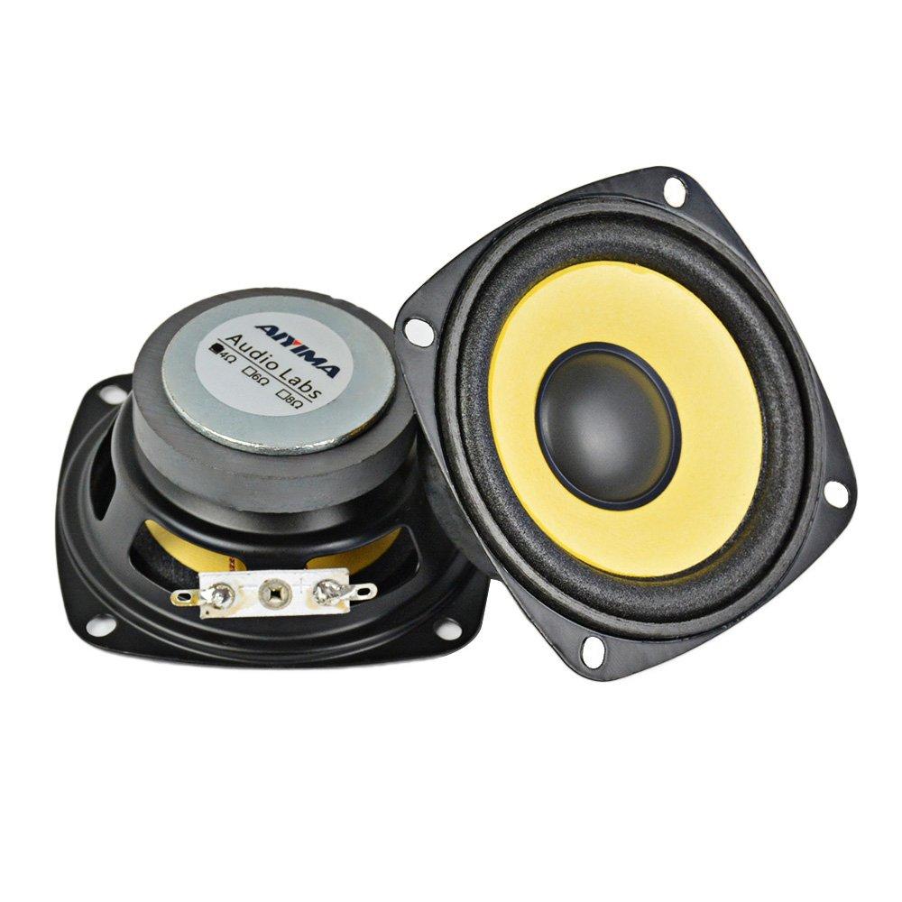 AIYIMA 2Pcs 3Inch Audio Portable Speakers Full Range 4Ohm 10W Speaker Magnetic Multimedia Loudspeaker DIY HIFI Home Theater by AIYIMA (Image #2)