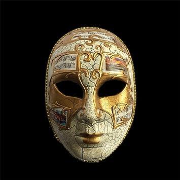 NUOKAI Máscara Veneciana del Carnaval Cara Llena Pintada a Mano Adultos Hombres y Mujeres Máscara de
