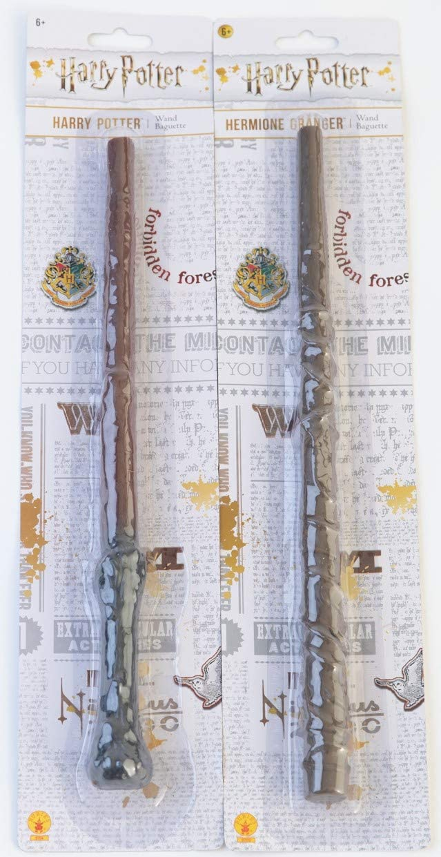 Rubie's Bundle - 2 Items: Harry Potter and Hermione Granger Magic Wands