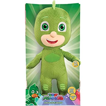 Just Play Pj Masks Sing & Talk Plush Gekko, Green