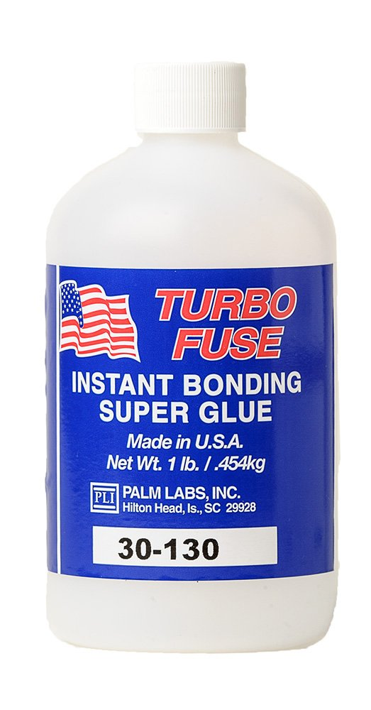 Turbo Fuse Cyanoacrylate Adhesive General Purpose 5cp- Equivalent to Loctite 420 - 1 lb Bottles - Case of 4