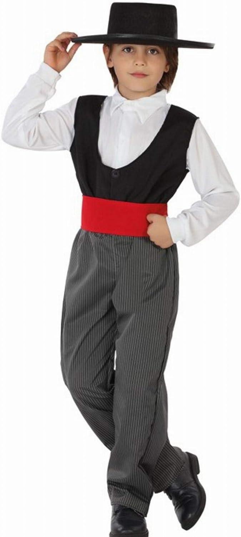 Atosa-26767 Atosa-26767-Disfraz Cordobes-Infantil NIño, Color gris, 10 a 12 años (26767
