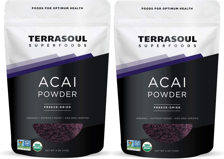 Terrasoul Superfoods Organic Acai Berry Powder, 8 Oz - Freeze-Dried | Antioxidants | Omega Fats by Terrasoul Superfoods (Image #1)