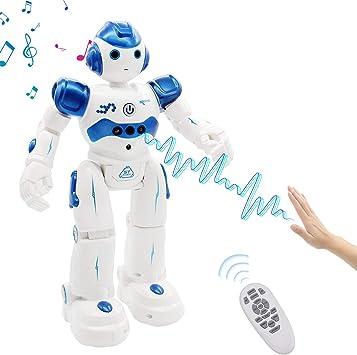 Oferta amazon: NEWYANG Robot de Juguete - Juguete Educativo electrónico Recargable Robot Juguete,Control Remoto Inteligente Programable Gesto Control Robot con Sensor de Movimiento,Juguete de Regalo para Niños
