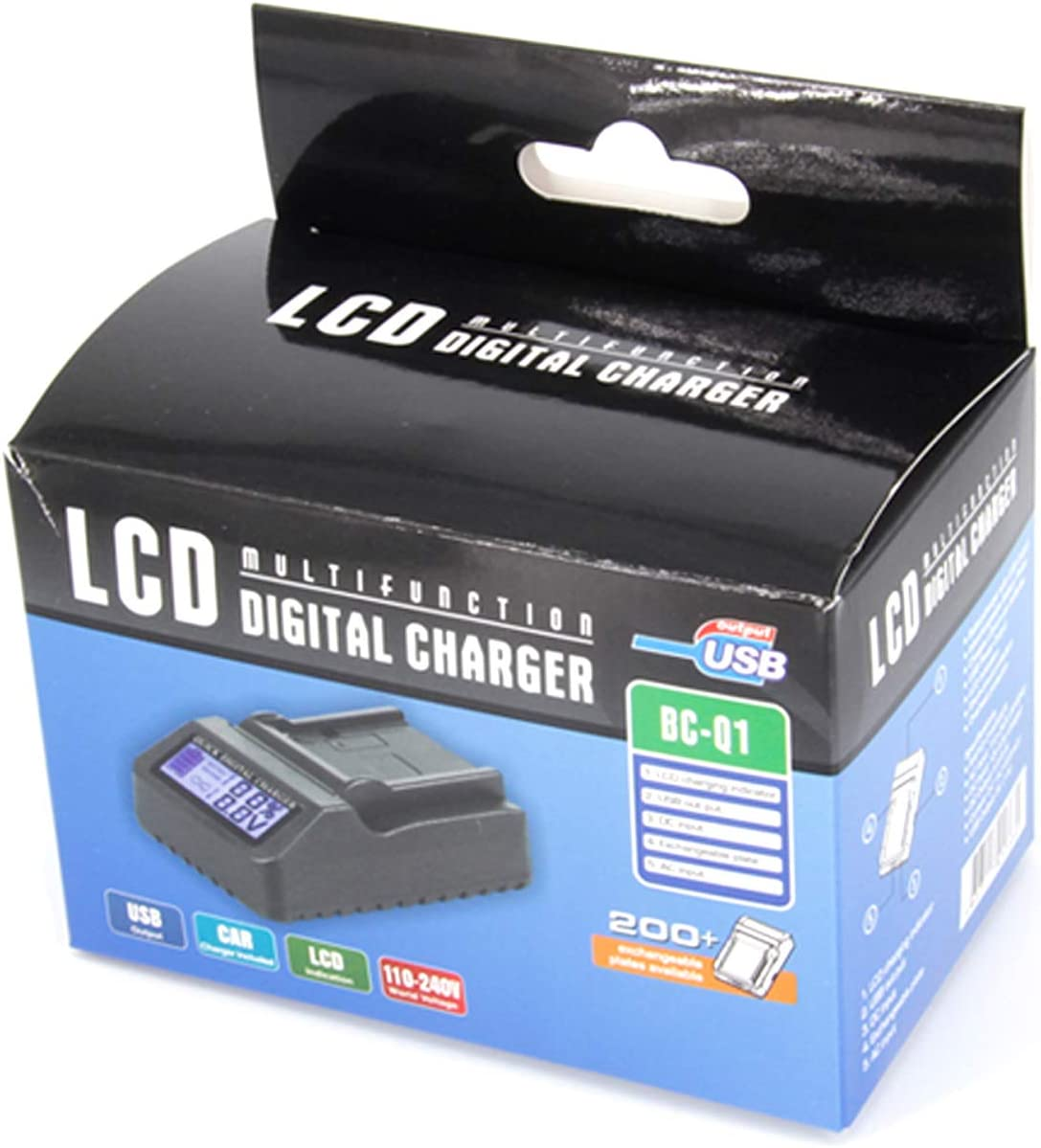 LCD Displays Fast Battery Charger for Canon LEGRIA HF R76 R77 R78 R86 R87 R88 HD Camcorder