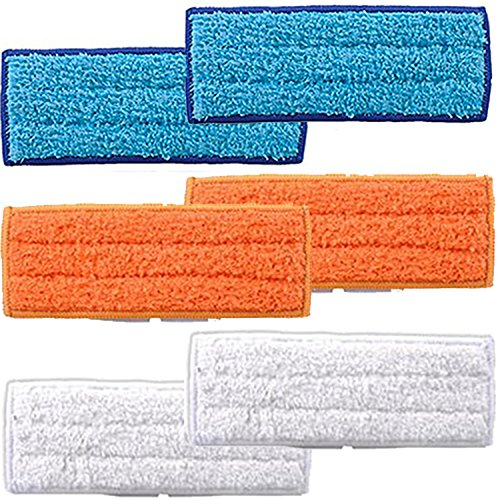 Price comparison product image Amyehouse 6 PACKS Mopping Cloths Replacement for Irobot Braava Jet 240 241 Robot Accessories, Including 2 Each Wet Mopping Pad,  Damp Sweeping Pad & Dry Sweeping Pad
