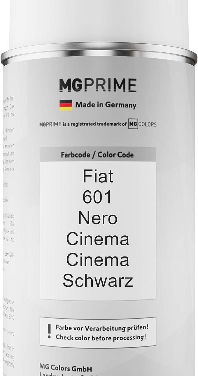Mg Prime Autolack Sprühdosen Set Für Fiat 601 Nero Cinema Cinema Schwarz Basislack Klarlack Spraydose 400ml Auto