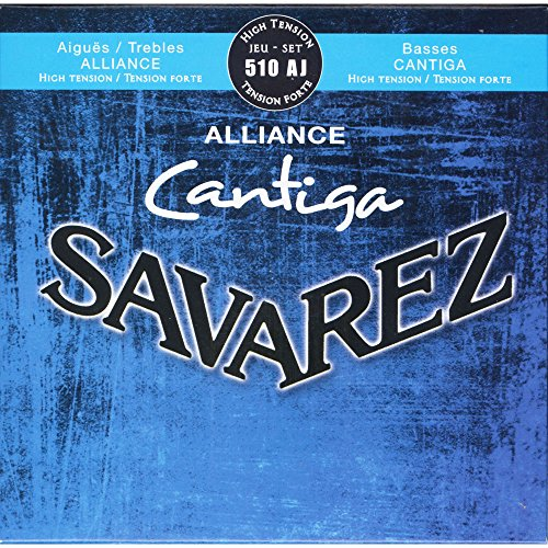 Savarez 510AJ Nylon Classical Guitar Strings, High Tension ()