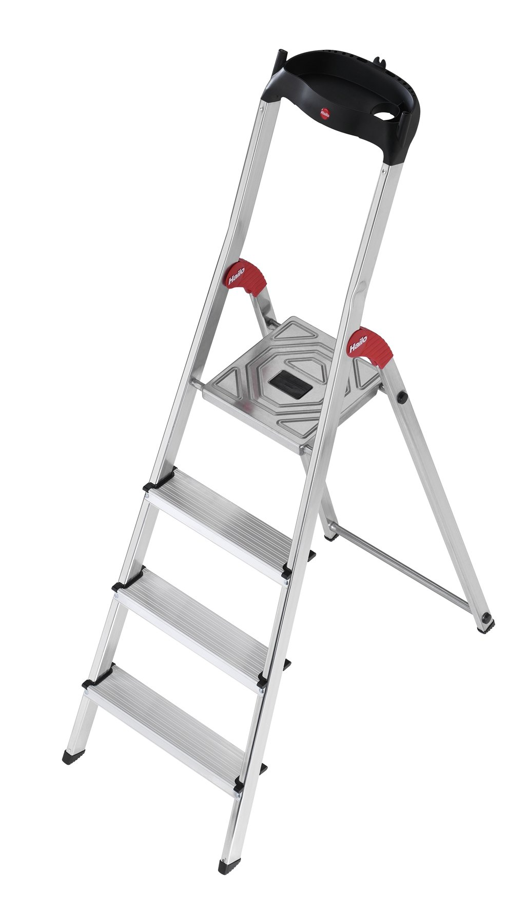 Hailo 8504-001 L60-Model 225-Pound Capacity ANSI Certified Aluminum Ladder, 5-Foot