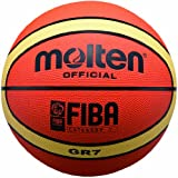 Molten Premium Rubber Basketball (Orange/Yellow, Junior/Size 5)