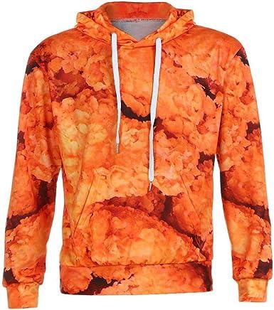 Winwinus Mens Long-Sleeve Print Halloween Hooded Pocket Collection Sweatshirt