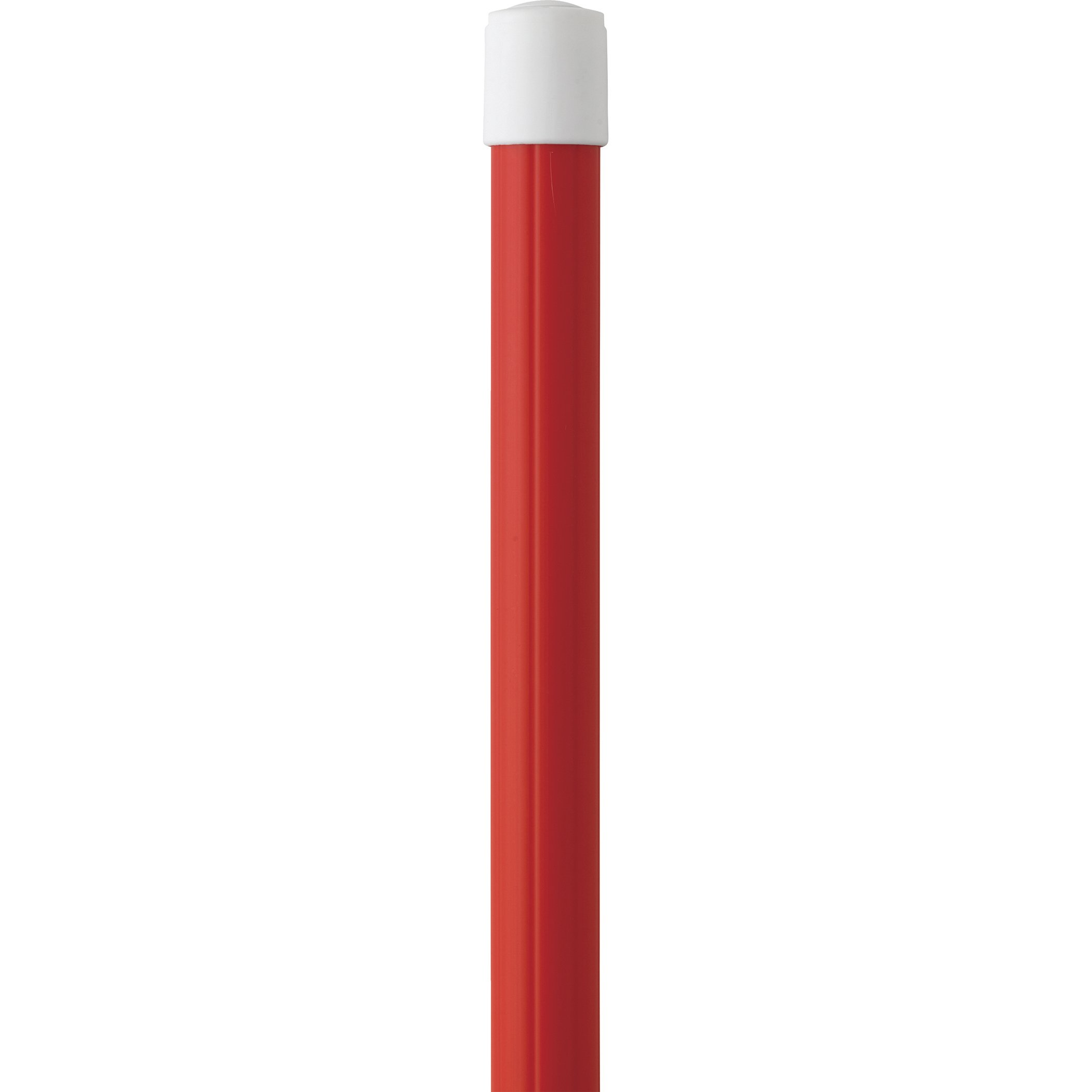 Vikan 29754 31.8''-112.50'' Telescopic Aluminum Extension Handle with Threaded Tip, 1.26'' Diameter, Red