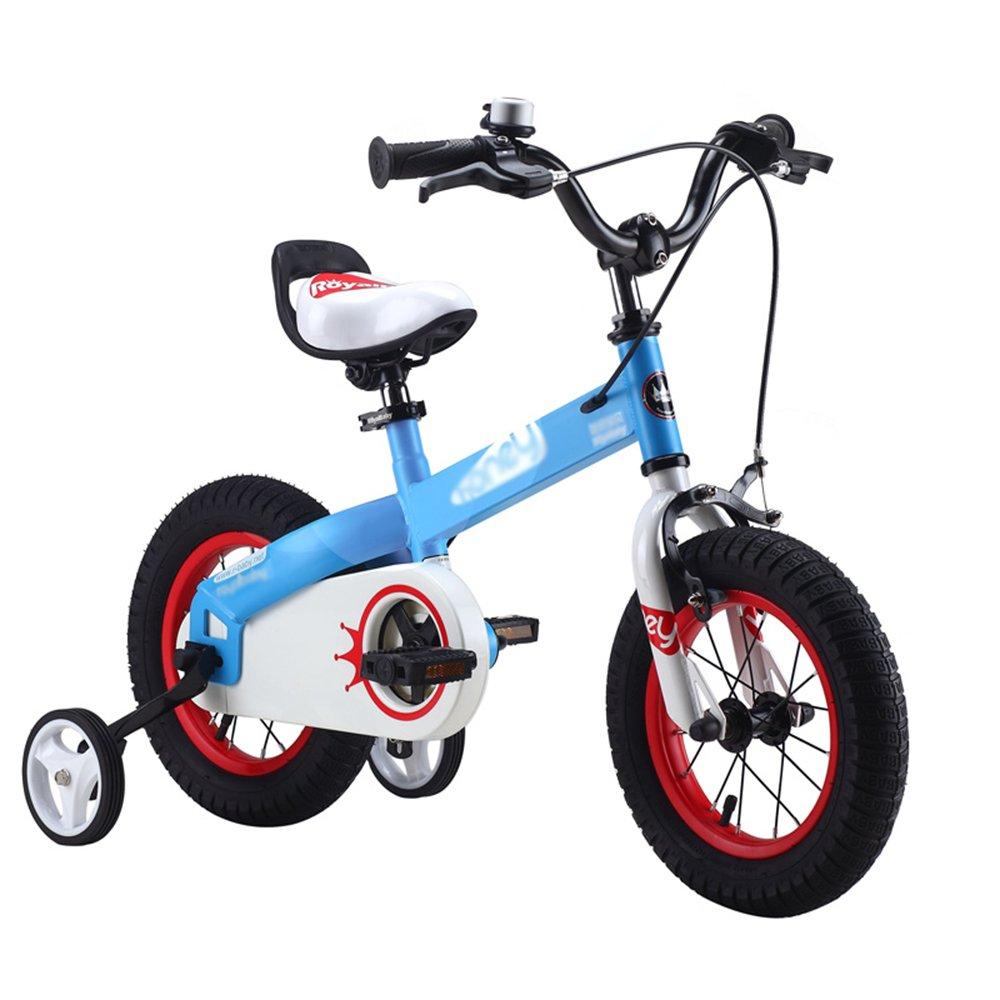 LVZAIXI 子供用自転車 青紫 サイズ12インチ、14インチ、16インチ、18インチ アウトドアアウト (色 : 青, サイズ さいず : 16 inch) B07D573VKN 16 inch|青 青 16 inch