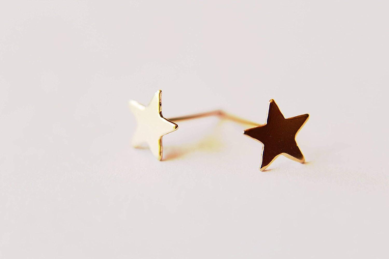 Modern Stud Earring Star Post Earring Yellow Rose Silver Star Stars Gift Gold Star Earrings Gold Stud Earring Simple Gold Stud