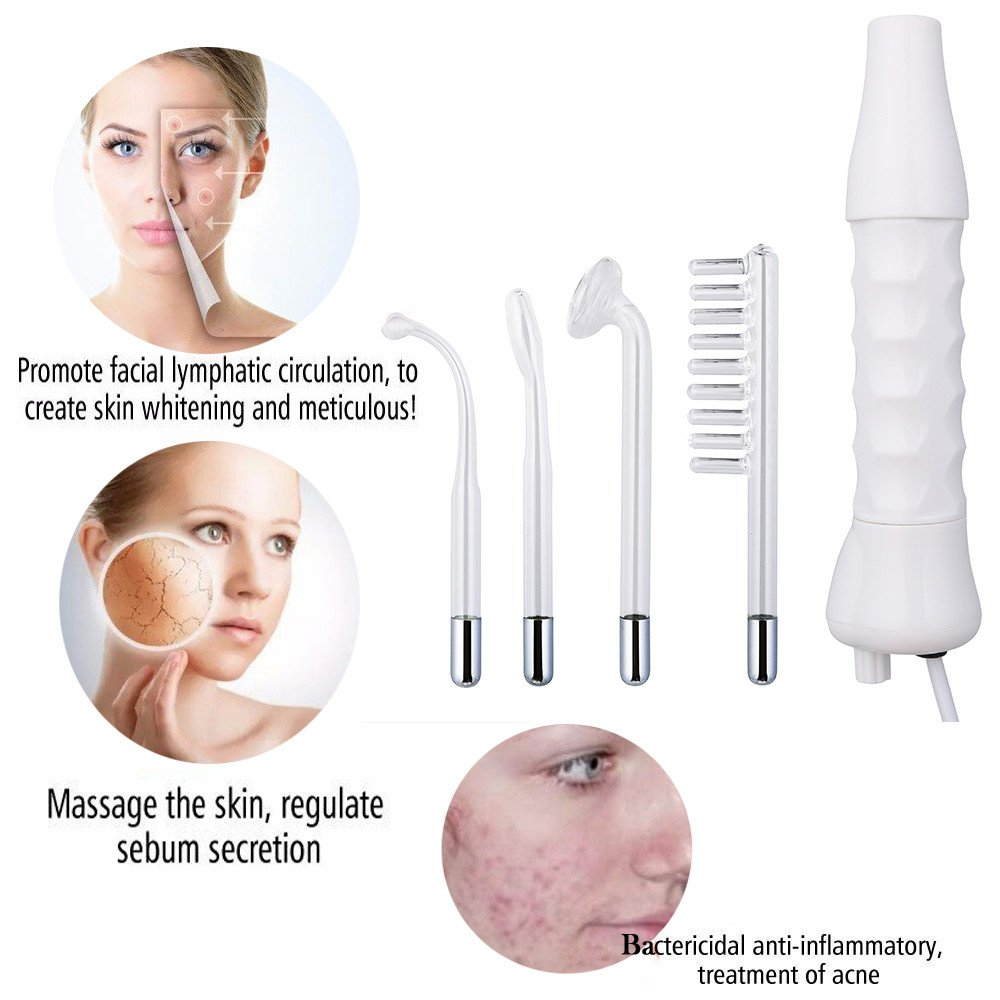 Electrode Glass Tube High Frequency Instrument Skin Facial Spa Salon Machine Beauty Acne Remover