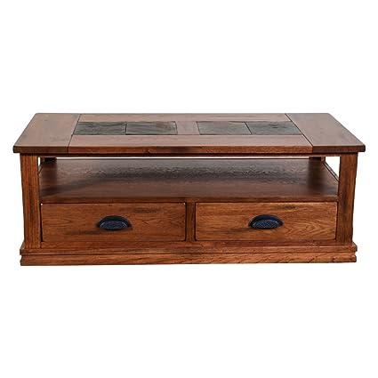 Sunny Designs Sedona Storage Coffee Table In Rustic Oak