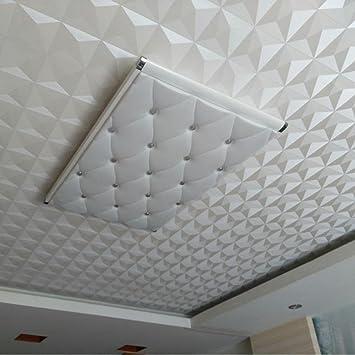 Decke Wandpapier 3D Stereo Weiß Diamant PVC Geprägt Tapeten Wasserdicht  Wohnzimmer Schlafzimmer Decke Dekorative Tapete