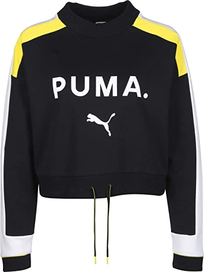 9f2bc0522 Puma Sweat Chase pour Femme Cotton Black XS: Amazon.fr: Vêtements et ...