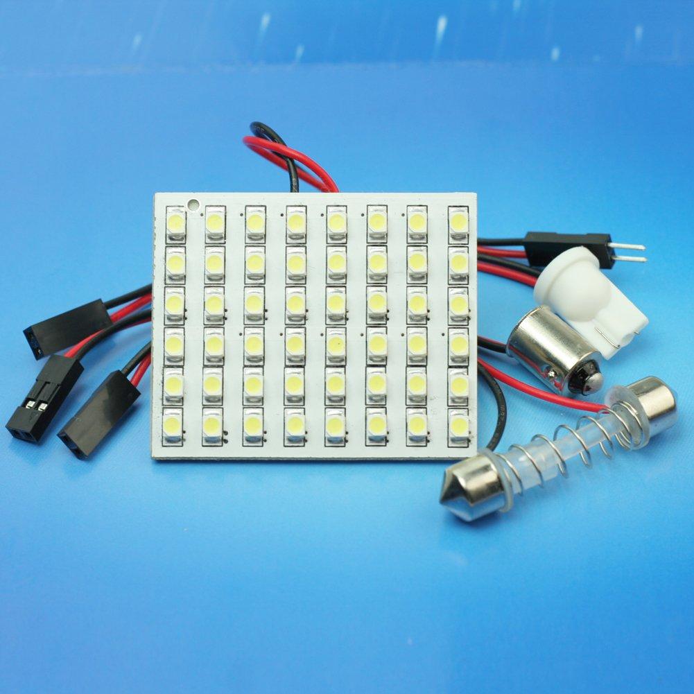 Nuevo 48 3528 LED SMD Panel Bombilla L/ámpara Adapatador de Luz Interior Coche