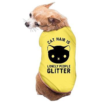 Check Out todos los gatos - pelo de gato es solitaria personas con purpurina diseño de perro ropa: Amazon.es: Productos para mascotas