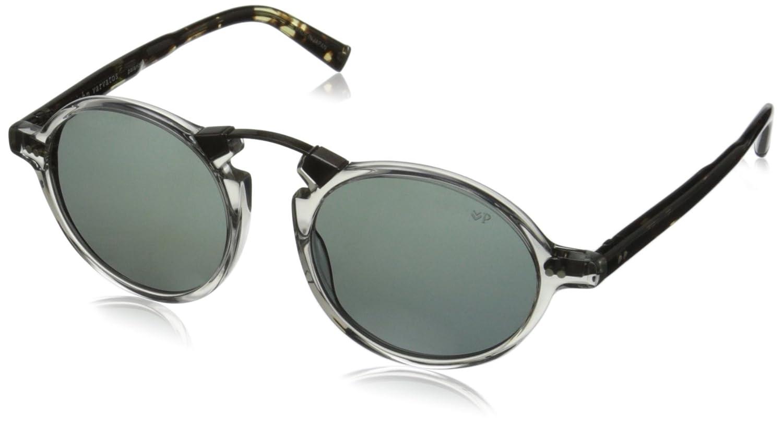 82b00054b9 Amazon.com  John Varvatos Mens V605 V605BLA50 Polarized Round Sunglasses