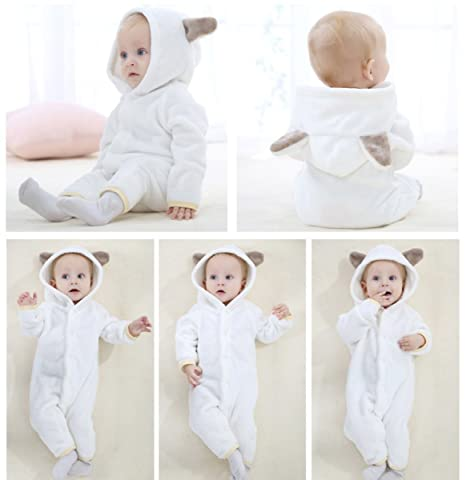 9bb251a73 Amazon.com  Happy Cherry Baby Infant Bear Style Hooded Flannel ...