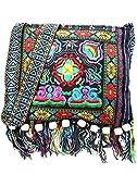 quilted fabric bags - Fringe Tassel Shoulder Messenger Bag Women Hobo Shoulder Bags Crossbody Tote Handbag (10x11 Inches, Blue)