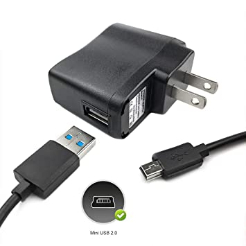 Amazon.com: 1 A adaptador de CA cargador + cable USB para ...