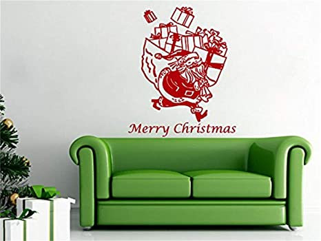 pegatinas de pared juveniles Wall Decals Merry Christmas ...