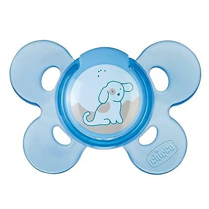 Chicco Physio Comfort - Chupete de silicona, 0 meses en adelante, color azul