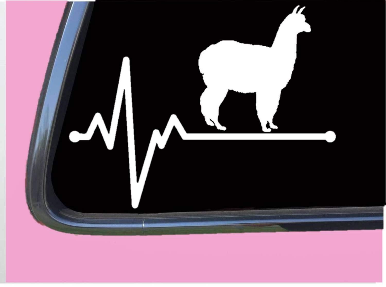 Amazon com alpaca lifeline tp 239 vinyl 8 decal sticker kria llama handmade