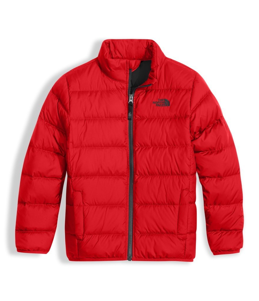 The North Face Boy's Andes Jacket - TNF Red & Graphite Grey - L (Past Season)
