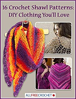 16 Crochet Shawl Patterns Clothing ebook product image