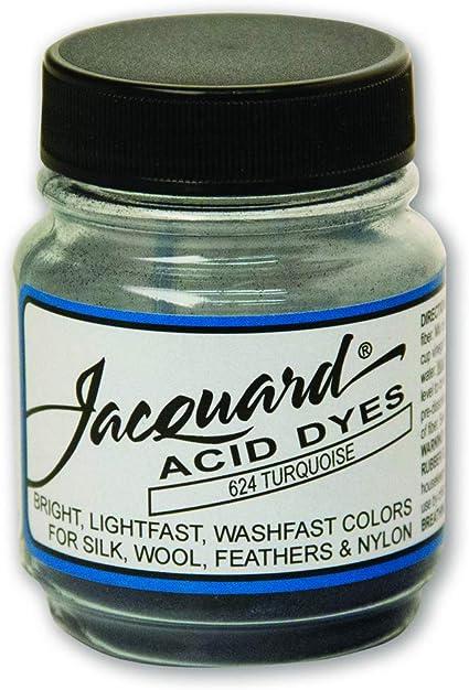 Jacquard 5 oz-Turquesa tintes ácidos./ Se Vende como un Paquete de 3