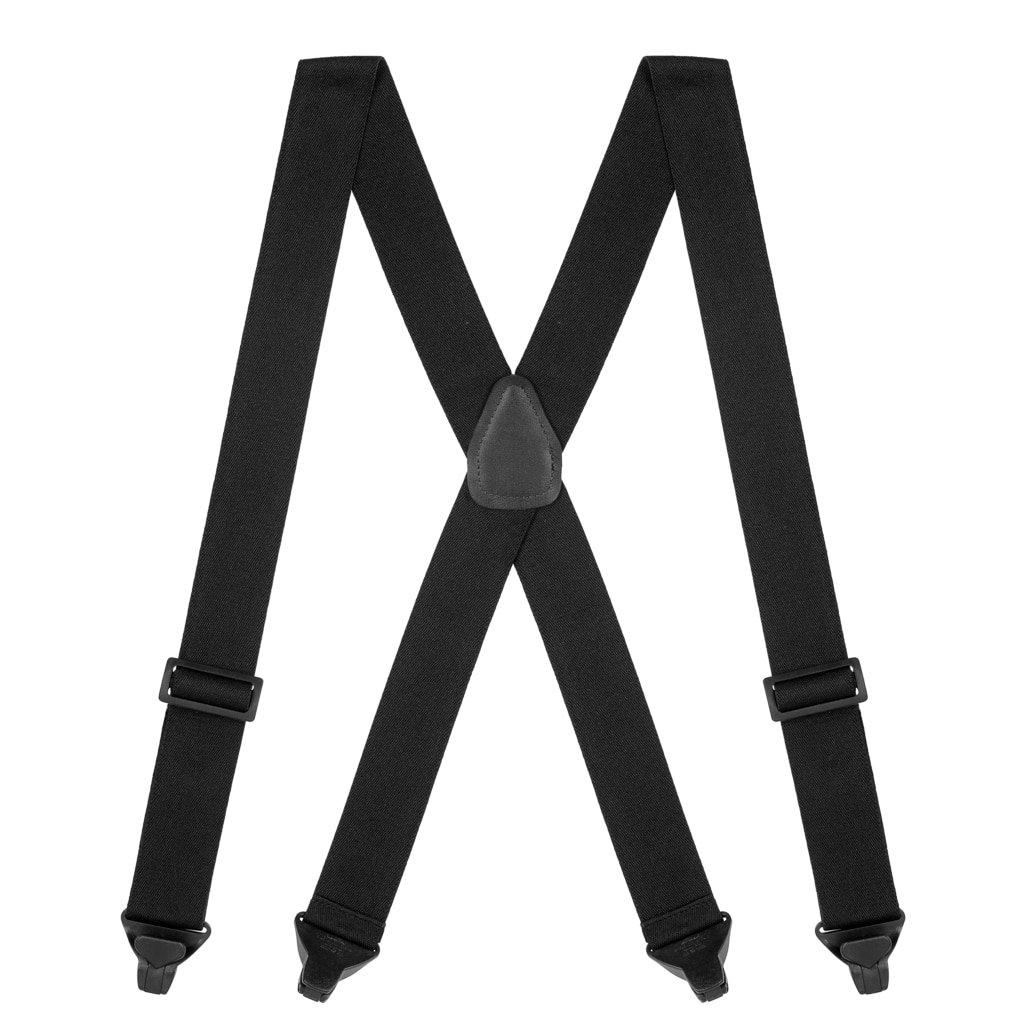 Suspender Store Mens Black AIRPORT FRIENDLY Suspenders - BuzzNot Clip