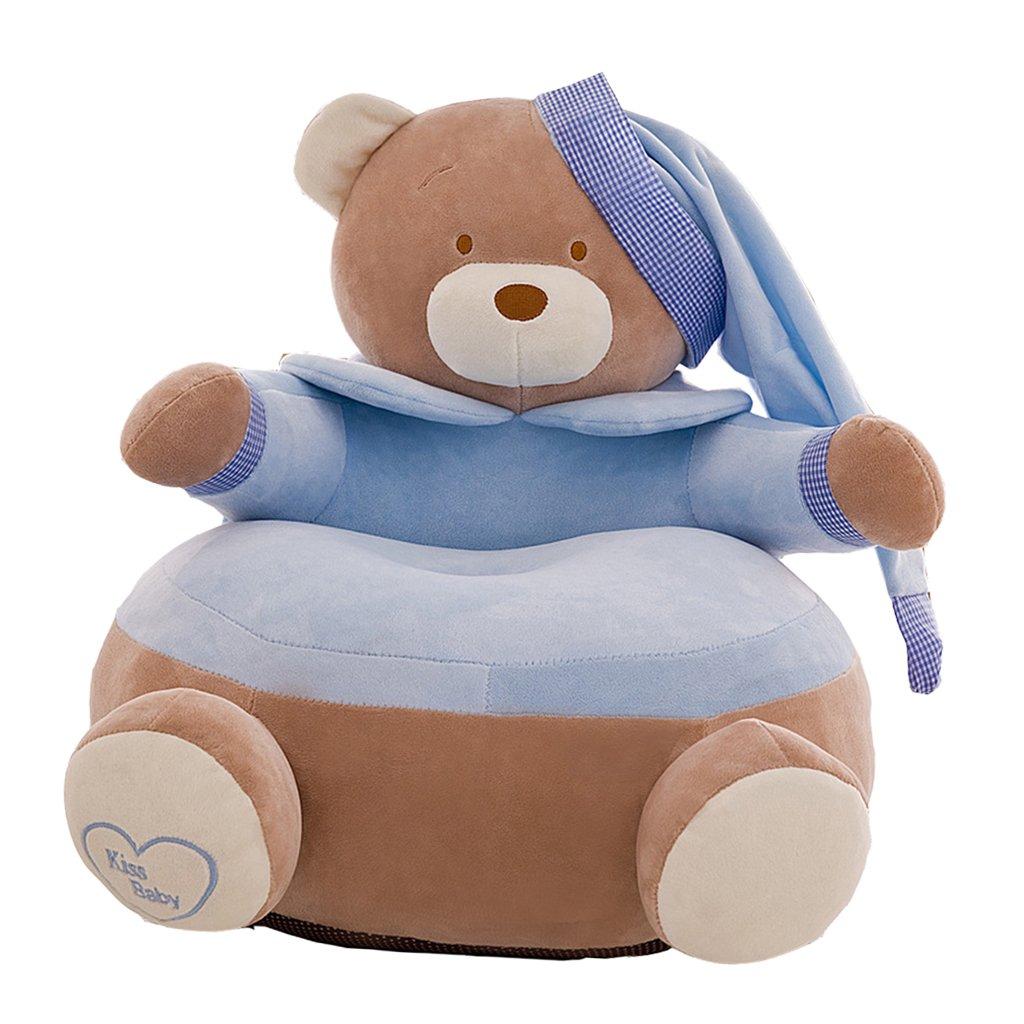 Fenteer Adorable Bear Children Seat Sofa Cover Kids Furniture Armchair Baby Chair Stuff Toy Bean Bag Home Playroom Decor - #1 Red, 20x20 inch 7127c52c4b8d52d50ca20ddcbbede4ca