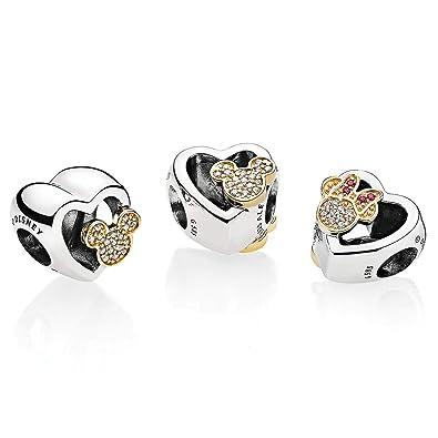 9536ff0e1 Pandora - Disney, Mickey & Minnie Love Icons Charm: Amazon.co.uk: Jewellery