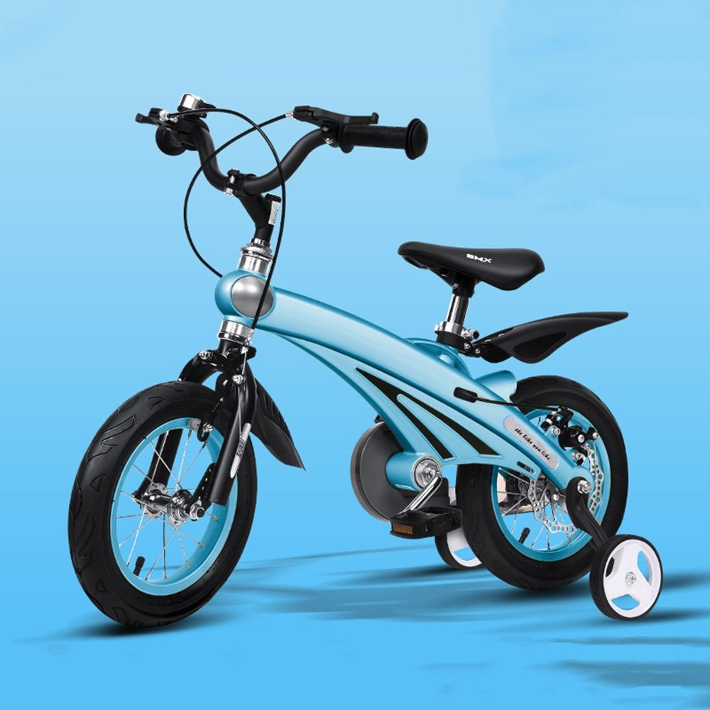 HAIZHEN マウンテンバイク 子供用自転車210歳のベビーカー12/14/16インチキッズバイク 新生児 B07C44WLKB 14 inch|青 青 14 inch